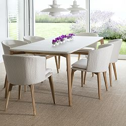 Arc Wicker Dining Table and Chairs