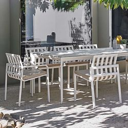 Tub Aluminum Dining Table and Chair Collection