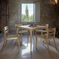 Paralel Square Teak Dining Table and Chairs