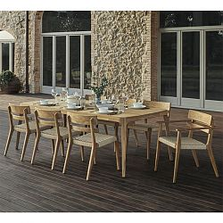 Paralel Rectangular Teak Dining Table