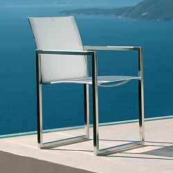 Dining Arm Chair in Stainless Steel