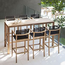 XQI Teak Bar Table and Stools