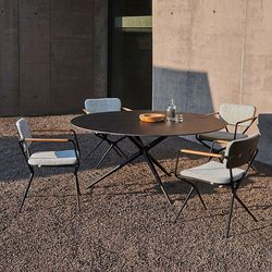 Exes Ceramic Dining Table and Chair
