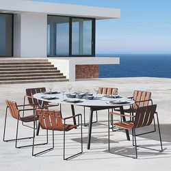 Strappy Dining Chair and Ceramic Table