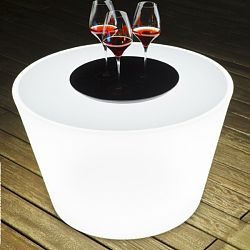 Bass Illuminated Outdoor Table