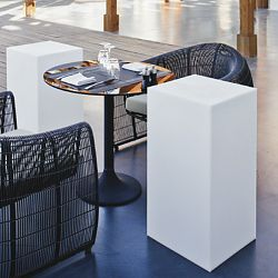 Block Illuminated Outdoor Table