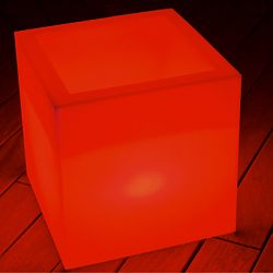 Cube Sharp Illuminated Outdoor Table