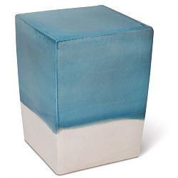 Ceramic Square Two Color Outdoor Stool or Table