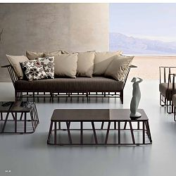 Roberti Hamptons Graphic Sofa in Coffee