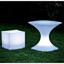 Lighted Lounge Cube and Milo Table