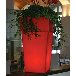 Torre Lighted Indoor-Outdoor Planter