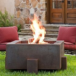 The Square Weathering Steel Outdoor Fire Pit