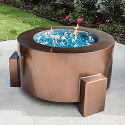 37'' Round Powder Coated Fire Pit