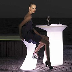 Noma Illuminated Outdoor Bar Table and Stools