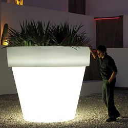 Illuminated Outdoor Planter