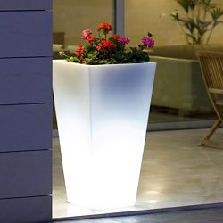 Illuminated Square Cone Planter