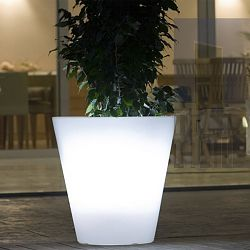 Illuminated Cone Outdoor Planter