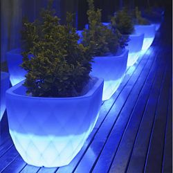 Vases Illuminated Outdoor Planter