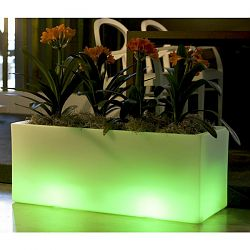Illuminated Jardiniere Outdoor Planter