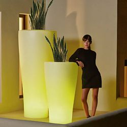 Illuminated Curved Planter