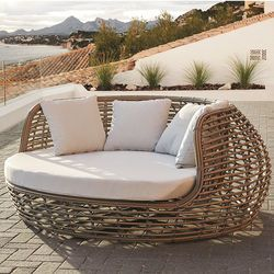 Ruby Wicker Love Seat