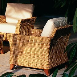 Rausch Outdoor Wicker Palm Beach Club Chair