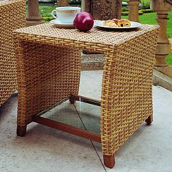Rausch Outdoor Wicker Side Table