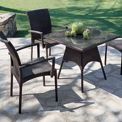 Rausch Wicker Sunny Beach Stacking Dining Chairs