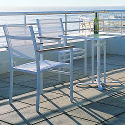 Rausch Aluminum Long Beach Outdoor Bistro Table