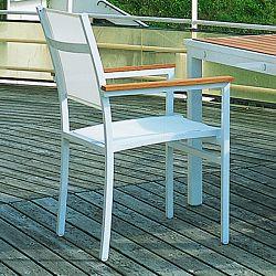 Long Beach White Arm Chair