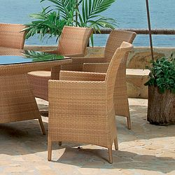 Rausch Outdoor Wicker Cocoa Beach Dining Chair