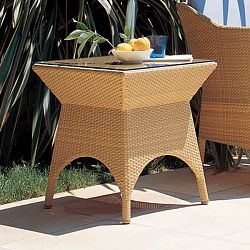 Rausch Beach Club Outdoor Wicker Side Table
