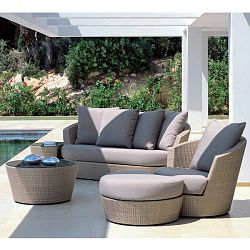 Rausch Eden Roc Wicker Sofa and Lounge Chairs