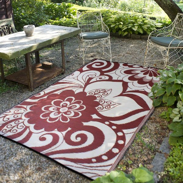 Maui Plastic Outdoor Rug Patio, Brown Outdoor Carpet Menards