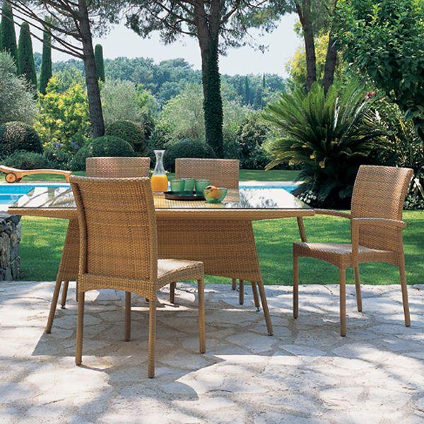 Beach Club Table with Natural Sunny Beach Chairs